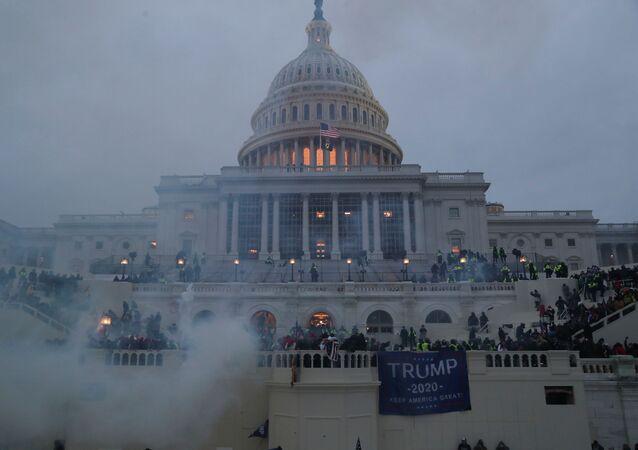 Situation autour du Capitole, envahi par des manifestants, le 6 janvier 2021
