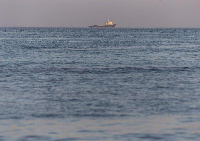 Un navire dans le golfe Persique, image d'illustration