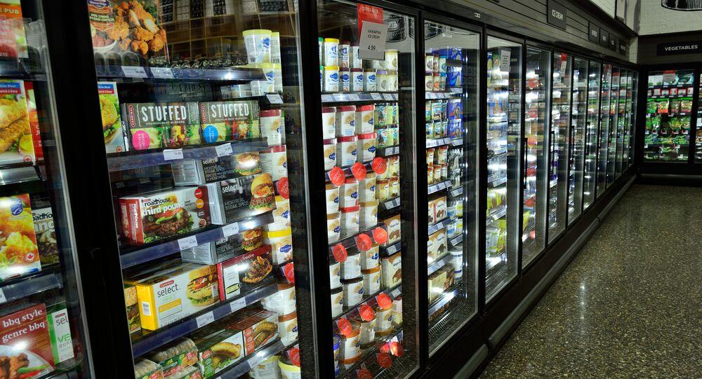 Aliments surgelés dans un supermarché (image d'illustration)