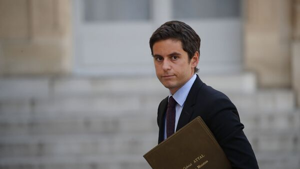 Gabriel Attal, porte-parole du gouvernement  - Sputnik France