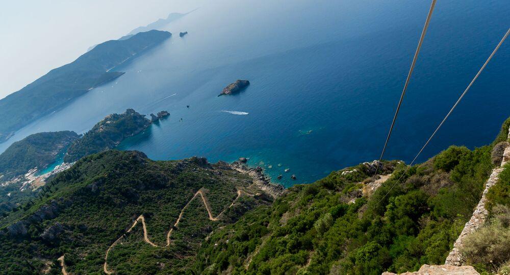 Mer Ionienne vue depuis l'île de Corfou (archive photo)