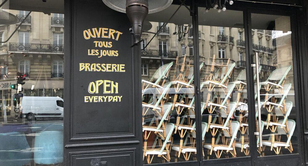 Brasserie fermée à Paris