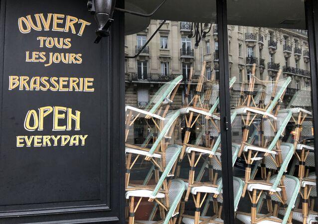 Une brasserie fermée
