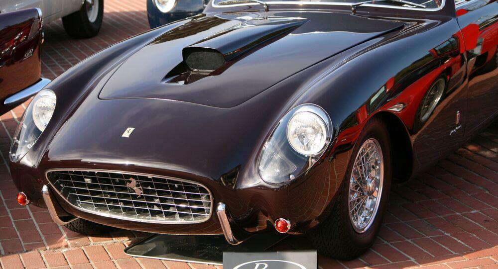 Une Ferrari 375 America Coupé