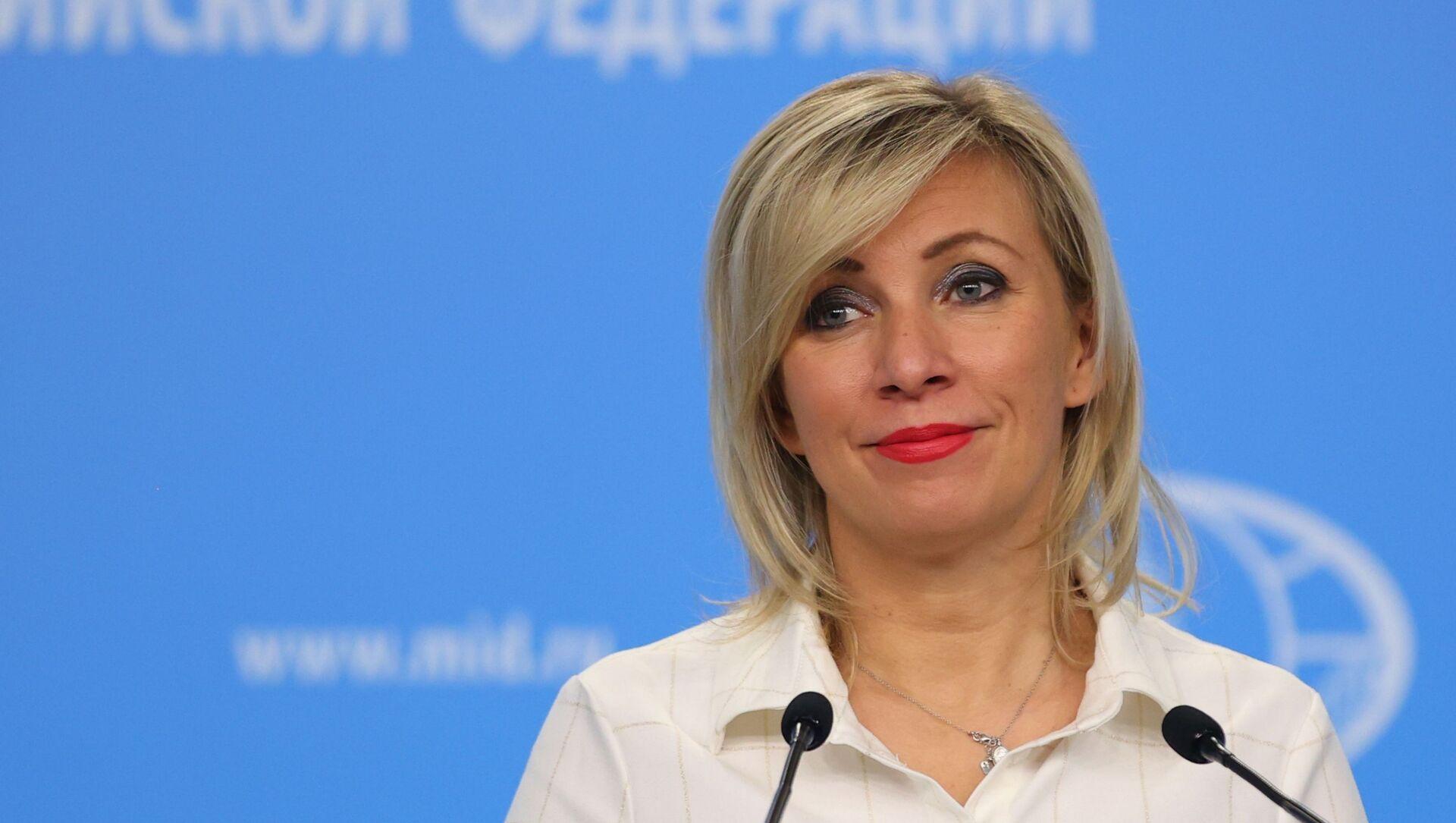 Maria Zakharova, porte-parole du ministère russe des Affaires étrangères - Sputnik France, 1920, 03.04.2021