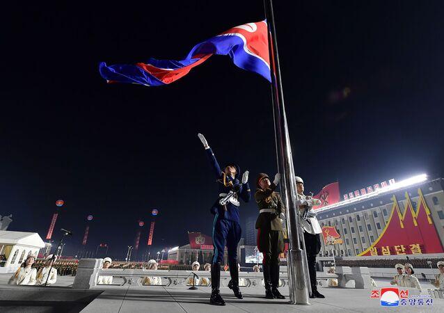 un défilé nord-coréen