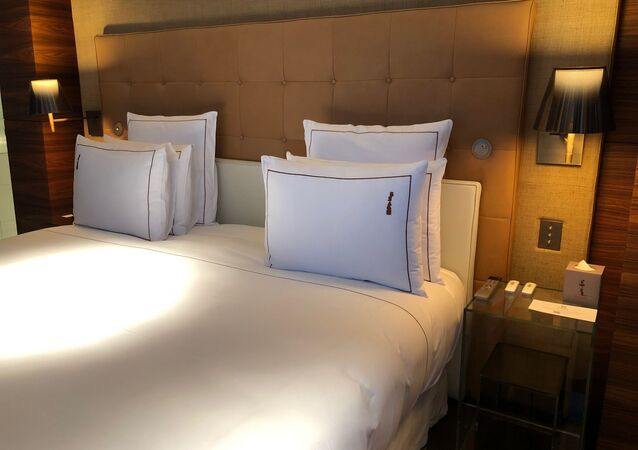 Chambre d'Hôtel. Image d'illustration