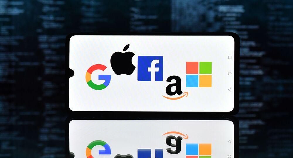 Logos de Google, Apple, Facebook, Amazon et Microsoft (GAFAM)