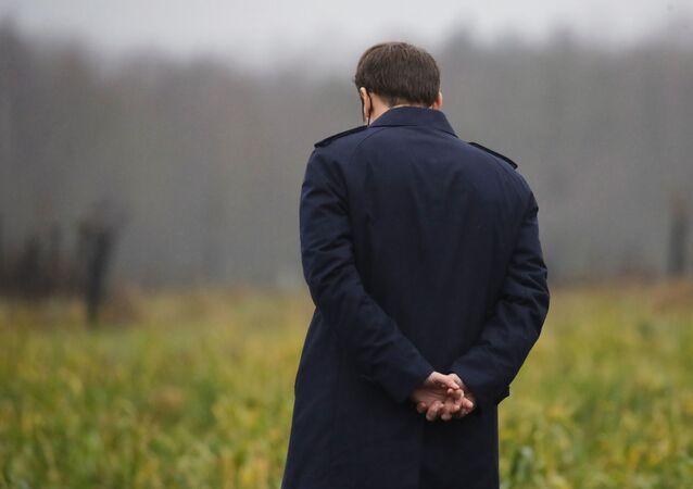 Emmanuel Macron en Normandie, le 12 janvier 2021