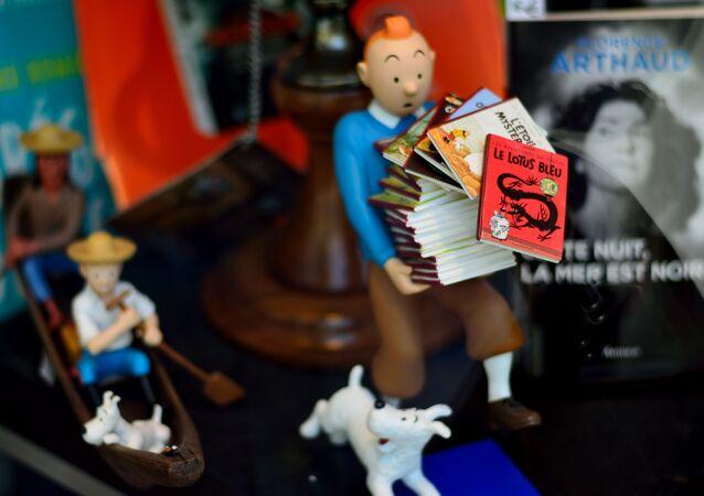 Une figurine de Tintin