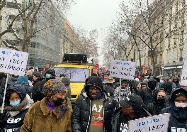 Manifestation contre la Sécurité globale, le 16 janvier 2021