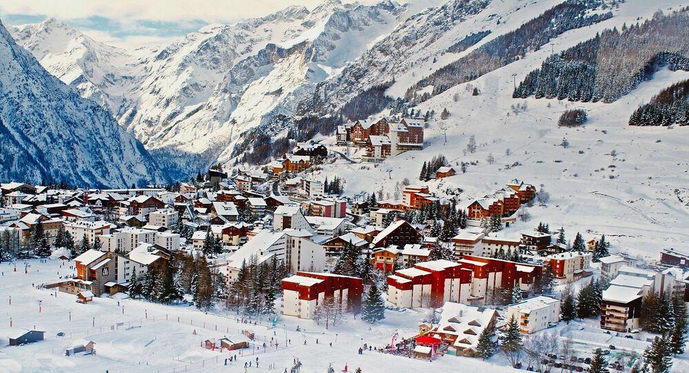 Une station de ski française