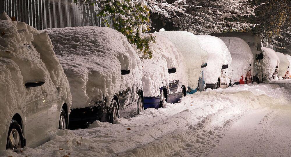Des voitures en hiver