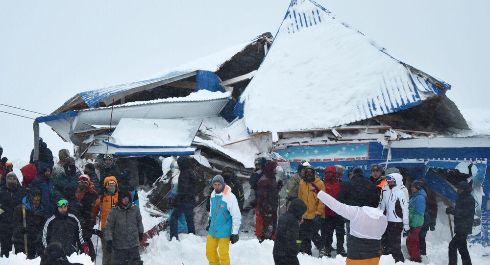Avalanche à Dombaï
