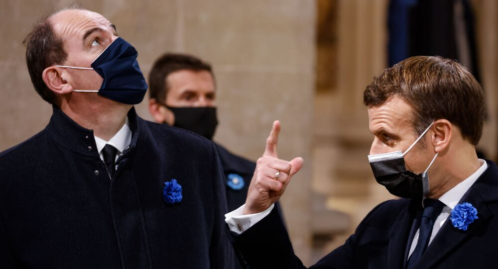 Emmanuel Macron et Jean Castex, le 11 novembre 2020 lors de la commémoration de la mémoire des soldats de la Guerre de 14-18