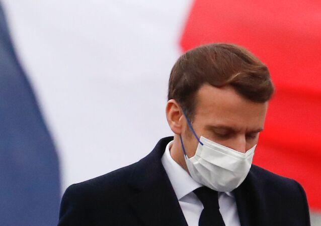 Emmanuel Macron à Brest, le 19 janvier 2021