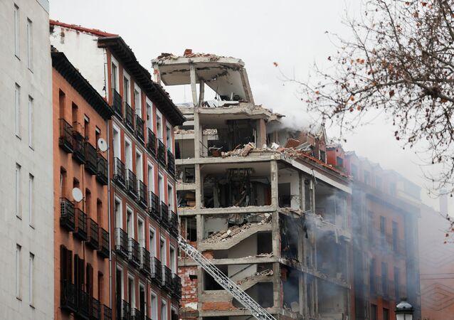 Madrid après une explosion au 98, rue de Toledo (20 janvier 2021)