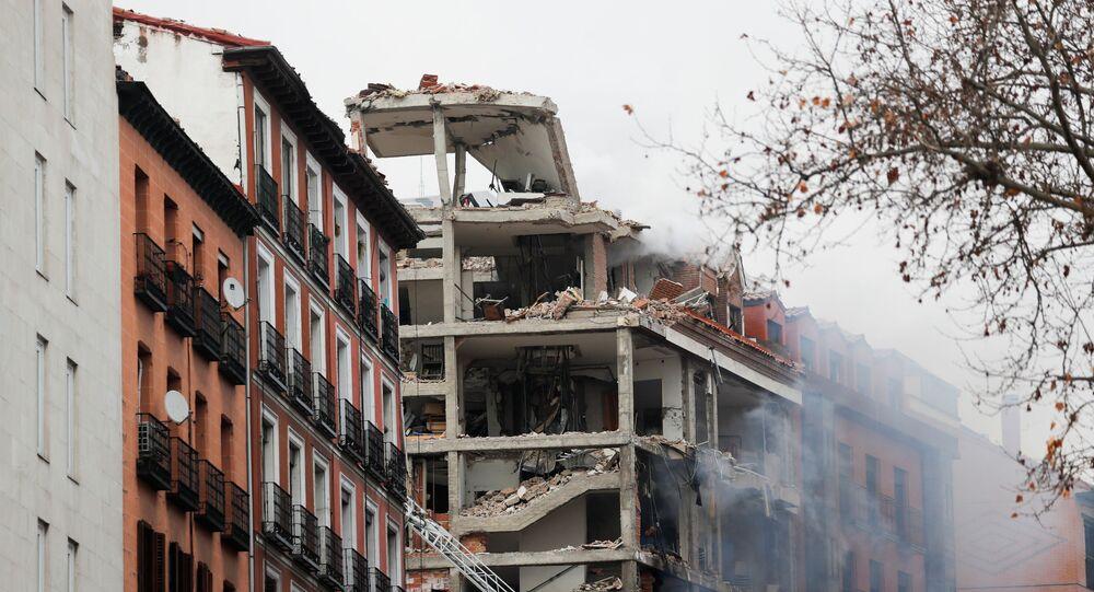 Forte explosion dans le centre de Madrid (vidéo)