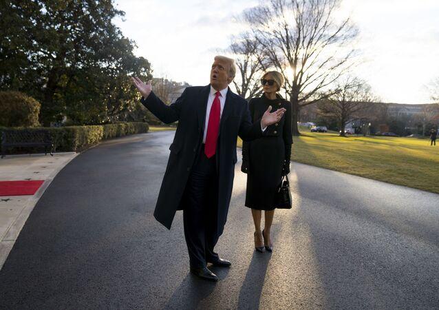 Trump quitte la Maison-Blanche