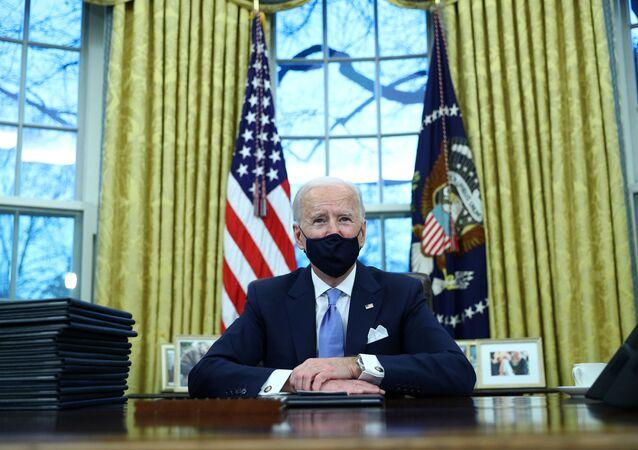 Joe Biden dans le Bureau ovale