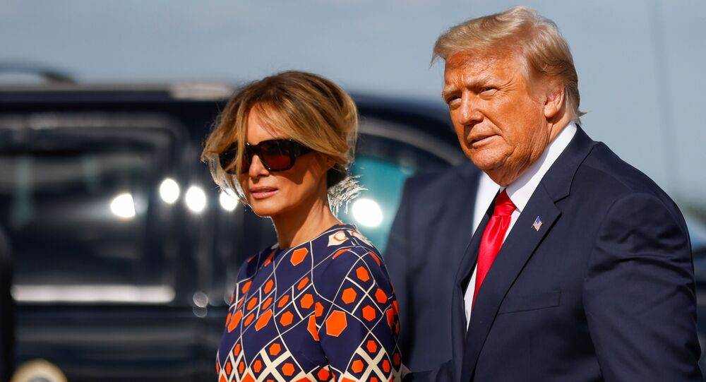 Melania et Donald Trump en Floride, le 20 janvier 2021