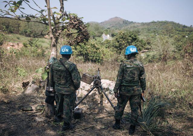 Les Casques bleus de la Minusca en Centrafrique