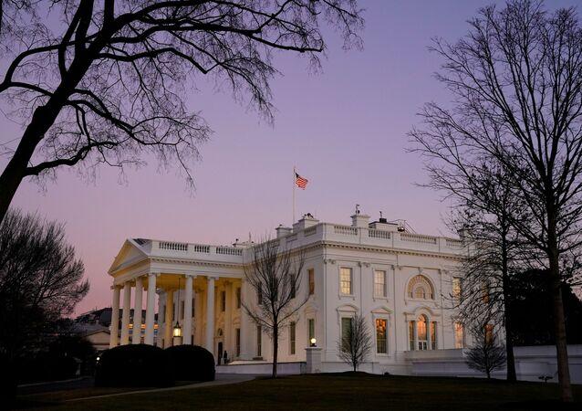 La Maison-Blanche le jour de l'investiture de Joe Biden