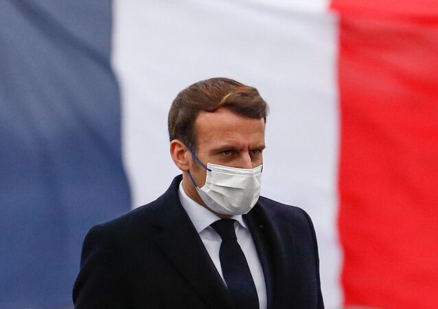 Emmanuel Macron présente ses voeux aux armées, le 19 janvier 2021 à Brest