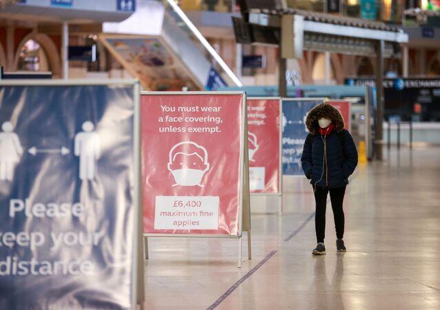 Une station de métro à Londres lors de la pandémie