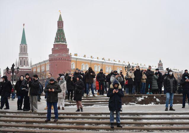 Les sympathisants de Navalny à Moscou