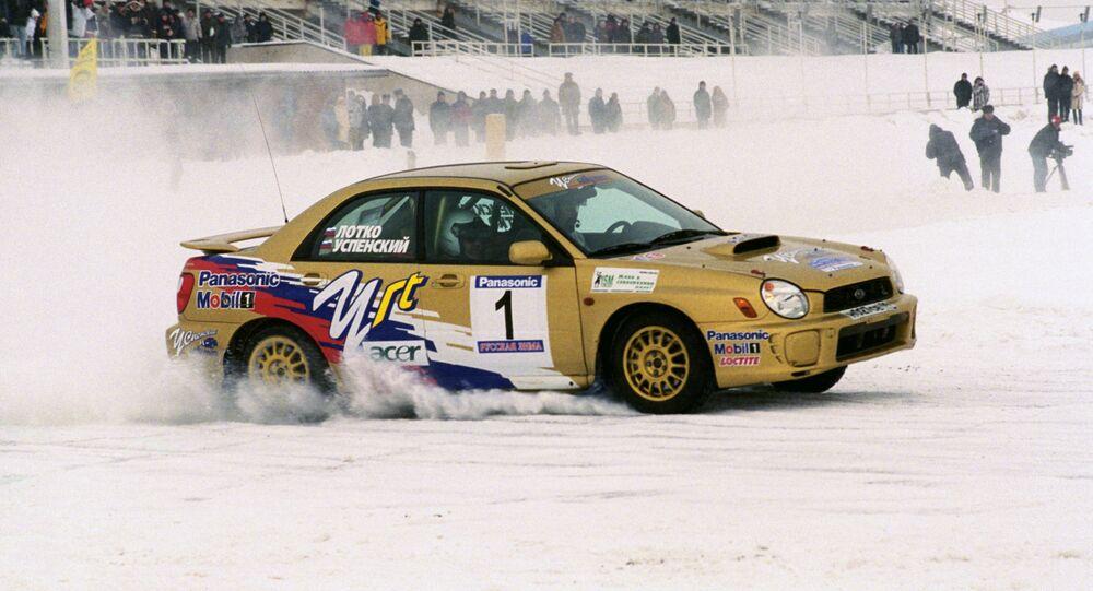 un rallye d'hiver (Image d'illustration)