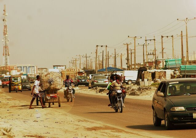 Une ville nigériane / image d'illustration