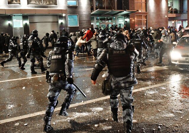 Manifestation non autorisée à Moscou 23 janvier 2021