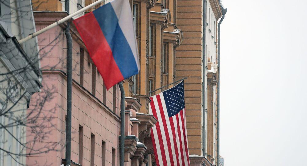 Drapeaux russe et américain (photo d'archives)