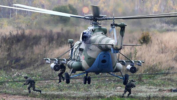 Un hélicoptère Mi-8 lors d'exercices militaires (archives photo) - Sputnik France