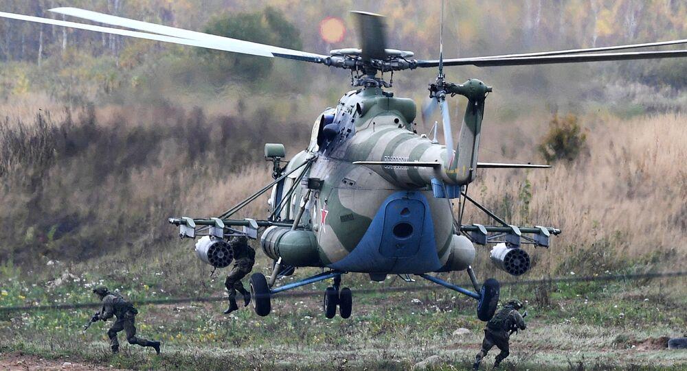 Un hélicoptère Mi-8 lors d'exercices militaires (archives photo)