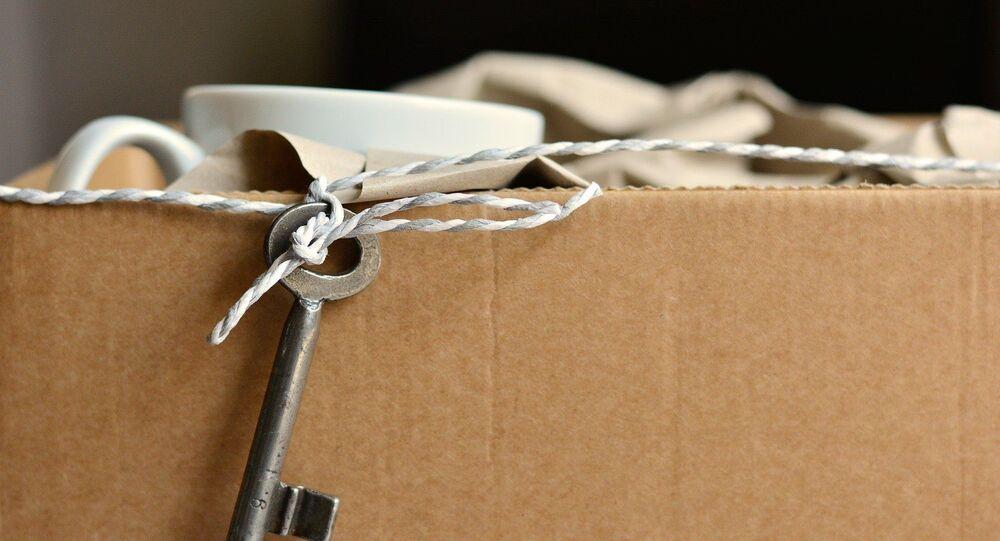 Un carton de déménagement