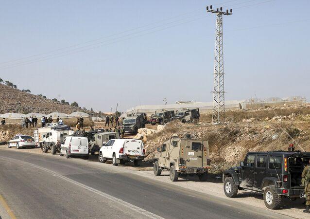 Des vehicules de l'armée israélienne, en novembre 2020