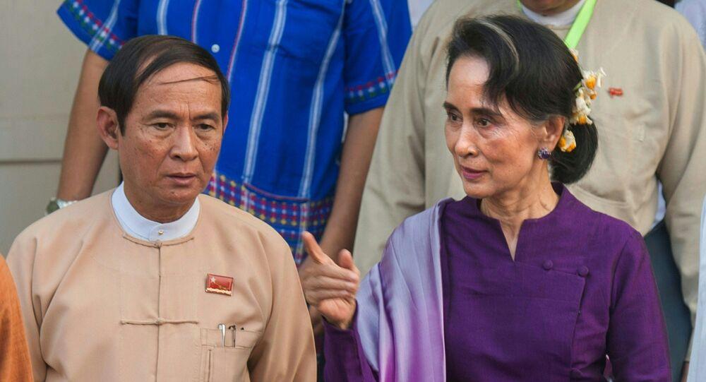 Aung San Suu Kyi et Win Myint