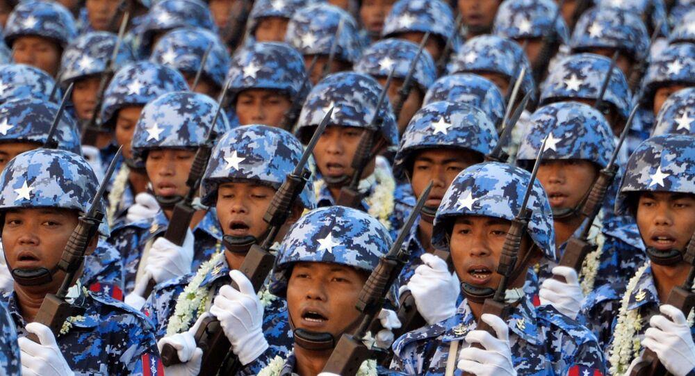 Militaires birmans en 2019 (Photo de Thet AUNG / AFP)