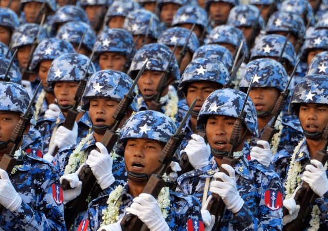 Militaires birmans en 2019 (Photo de Thet AUNG / AFP)