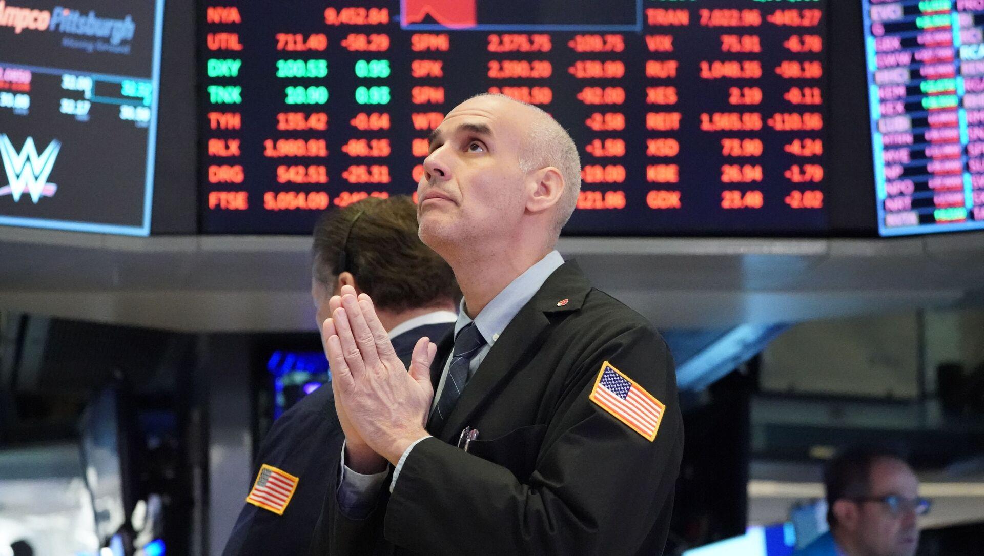 Un trader à Wall Street - Sputnik France, 1920, 02.03.2021