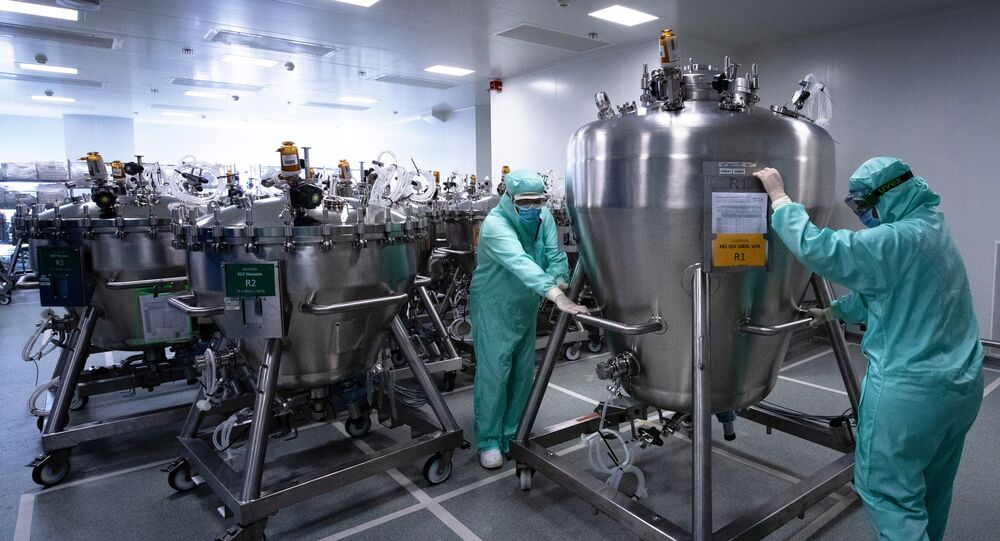 Au sein du centre de distribution mondial de la société pharmaceutique française Sanofi à Val-de-Reuil