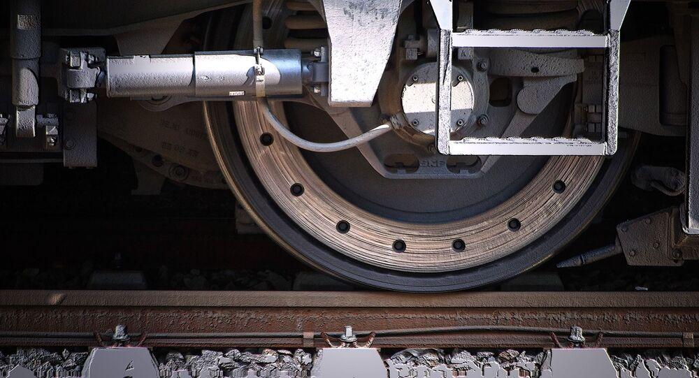Roue de train (image d'illustration)