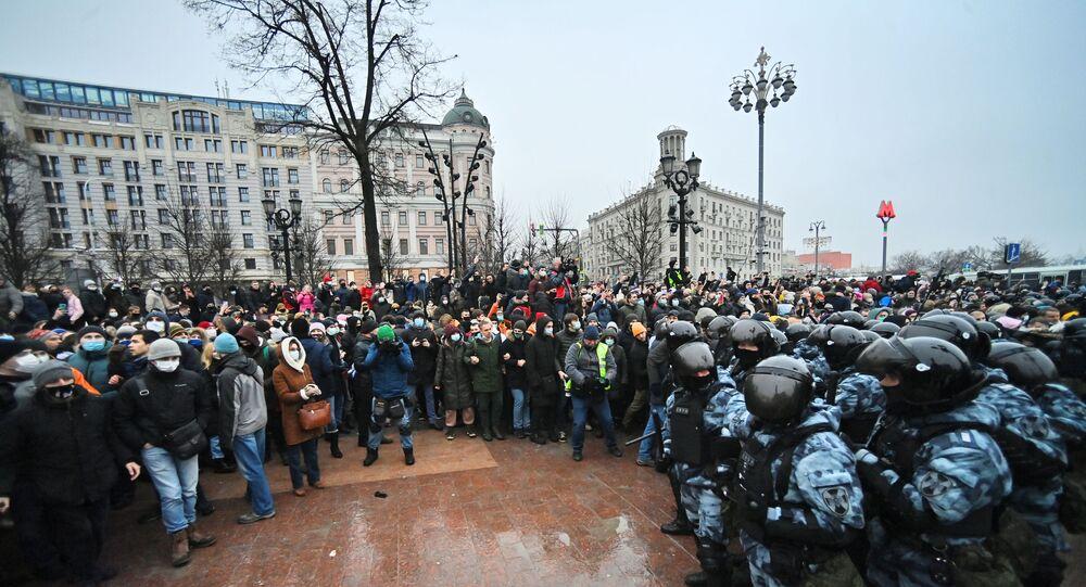 Manifestation non-autorisée en soutien à Navalny à Moscou le 23 janvier 2021