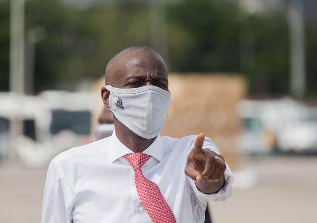 Le Président haïtien Jovenel Moïse