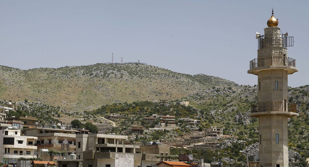 Vue sur le plateau du Golan depuis le Liban