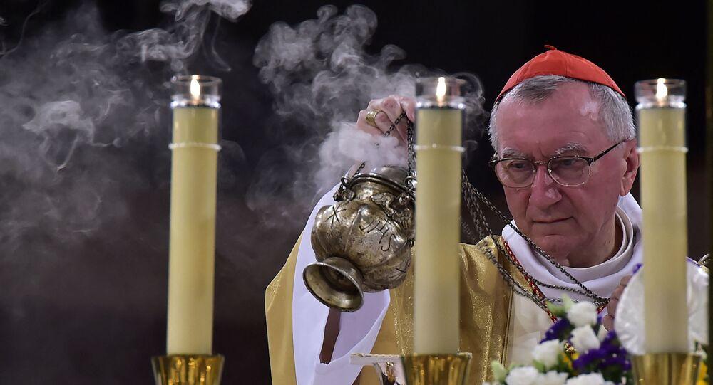 Le cardinal Pietro Parolin, envoyé spécial du pape François.