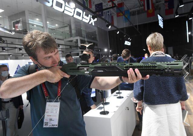 le fusil MP-155 Ultima présenté lors du forum Armée 2020