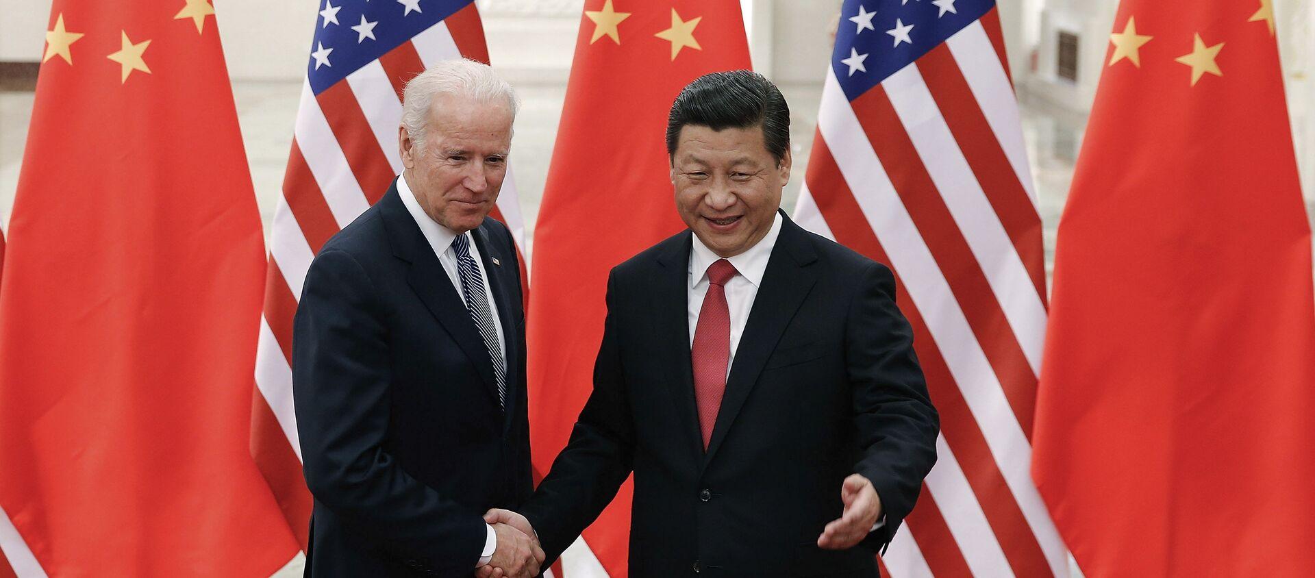 Joe Biden et Xi Jinping. - Sputnik France, 1920, 11.02.2021